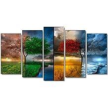 DekoArte - Cuadro moderno paisaje 6 150x80cm