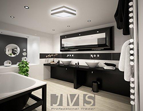 Plafoniera Quadrata E27 : Set di provance ip e lampada soffitto plafoniera led