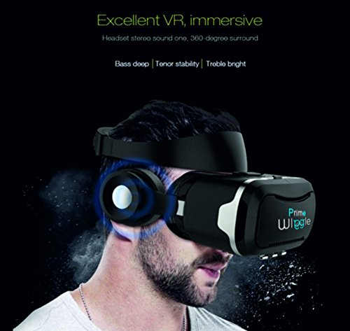 eee553a69e3 WI WIGGLE PRIME VR HEADSET 3D BOX VR::WITH HEADPHONES AND NEW HD PMMA  lenses-Optical Resin Lense + Remote Controller with 3D HFDI Stereo Headphone::120  ...