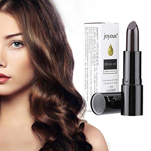 Coloration Temporaire Cheveux, colorant la ouverture de cheveux blanche DIY bâton de maquillage, lavable et non-toxique (noir)