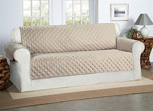 Safari Homeware Beige/Creme 3-Sitzer Sofa Bezug Couchdeckel - Sofa Couch Luxus Gestepptes Möbelschutz