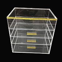 immi-living Maquillaje Organizador Transparente Almacenamiento con 4cajones de almacenamiento de cosméticos rack caja de joyas