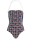 Bogner Fire + Ice Damen Badeanzug Style Nanja Farbe: Blau/Weiss / Rot Multicolor Gr. S 36 Swimsuit Badeanzug