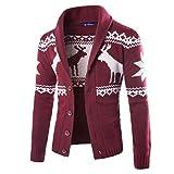 Kobay Herren Winter Weihnachten Pullover Strickjacke Weihnachten Strick Mantel Jacke Sweatshirt
