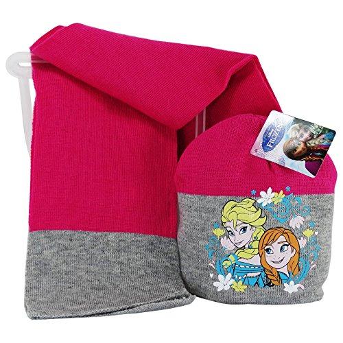 Disney Frozen Set Cappello Guanti e Sciarpa Coordinati per Bambina Idea regalo