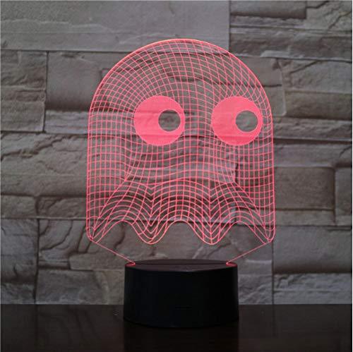 3D Illusion Nachtlampe Spiel Pac Mann Lampe Tisch Schlafzimmer Dekorative Lampe Illusion Kind Kinder Baby Kit Blinky Inky Clyde Geist Pac Mann Nachtlicht Led Pac Lighting Kit