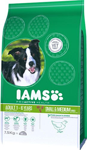 Iams ProActive Health Complete and Balanced Dog Food with Chicken for Small and Medium Breeds, 7.5 kg 4