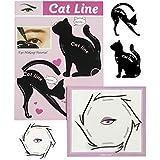 Eyeliner Stencil Set di Eyeliner Perfetto da BLISSANY, Eyeliner di Gatti, Styling Eyeliner 16 Stili, Doppie ali, gatto extravagante, Eyeliner arabo (2 pezzi)