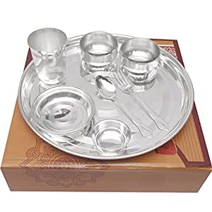 ... GS Museum Silver Plated 10.5\  Light Glossy Dinner Set 8 Pcs.  sc 1 st  Amazon.in & Buy GS Museum Silver Plated 10.5\