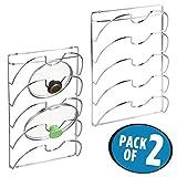 mDesign 2er-Set vertikaler Topfdeckelhalter – praktische Küchenutensilien für Topf- und Pfannendeckel – handliches Küchenzubehör aus Metall – silberfarben