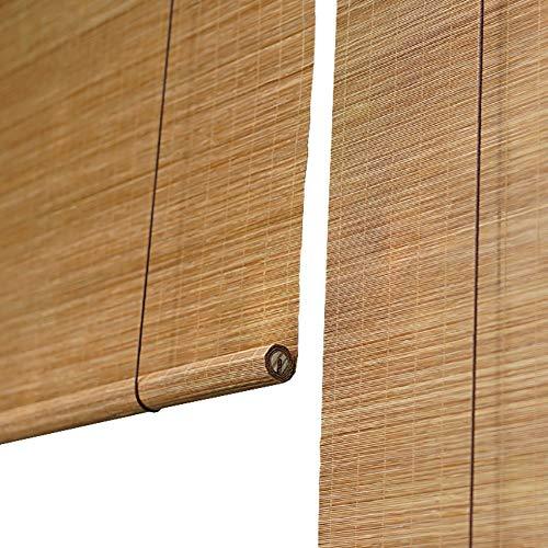Persiana enrollable Cortina de Bambu Bambú con Ganchos, Estores para Ventana para Exteriores, Balcón del Patio, Sombrillas 60% (Tamaño : 70x150cm)
