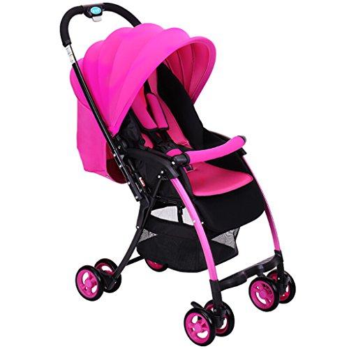Peixia Department Store Kinderwagen High Landscape Kinderwagen Ultra Lightweight Kinderwagen Klapp-Kinderwagen Geeignet für 6-36 Monate Baby Buggy Stroller Babywagen (Farbe : 1#)