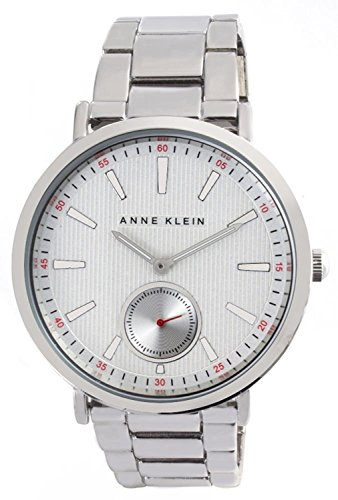 Anne Klein Women's Silver Dial Metal Bracelet Quartz Watch AK/2221SVSV