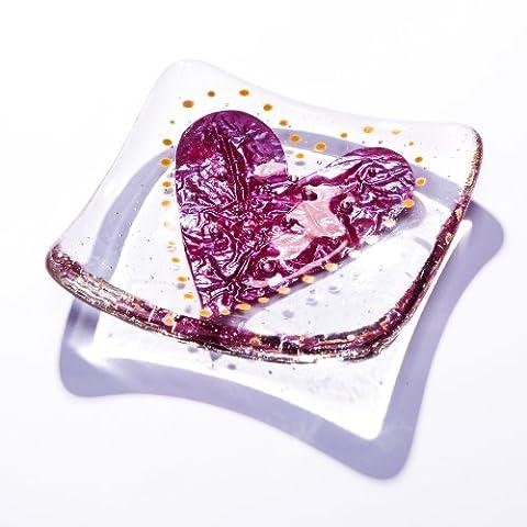 Big Love Support pour bijoux avec motif cœur en verre