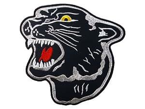 BLACK PANTHER JAGUAR Logo patch Iron on Sew Applique Embroidered Emblem Ecusson brode patche Patches