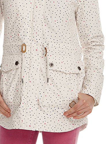 Ragwear Jewel Hearts Jacket Dark Grey Beige