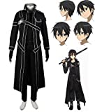 Produkt-Bild: Sword Art Online SAO Kostüm Kirito Anime Uniform-Jacken-Mantel Cosplay Kostüm und Perücke Coslive