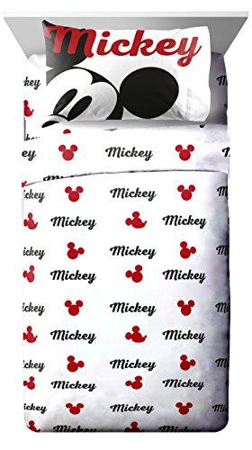 Disney Mickey Chevron Bettwäsche Decke, Retro Full Sheet Set, Volle Größe (Minnie Voller Größe Bettwäsche-set)