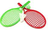 #6: SLYTEK Badminton cum Tennis Racket/racquet Set for Kids Play Game Toy with 2 Rackets, Ball and Plastic Shuttlecock