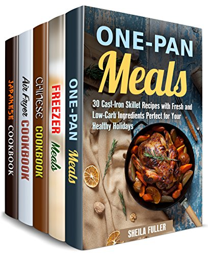 Freeze, Heat and Fry Box Set (5 in 1): Cast Iron, Air Fryer, Asian Stir-Fry Recipes and Freezer Meals (Quick and Easy Recipes ) (English Edition)