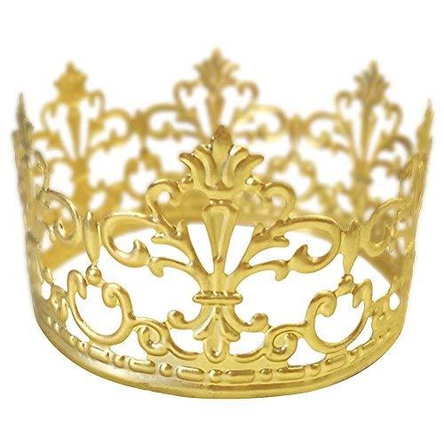 BESTONZON Gold Crown Tortenaufsatz Gold Hochzeit/Geburtstag Kuchen Dekoration für König, Königin, Prinz und die Prinzessin Party (Gold)