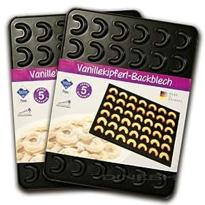Zenker Plaque de cuisson pour croissants à la vanille 42 x 32x 1,4 pour 42 croissants