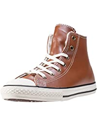 Converse Chuck Taylor All Star High Leather Zapatillas Niños Color Marrón