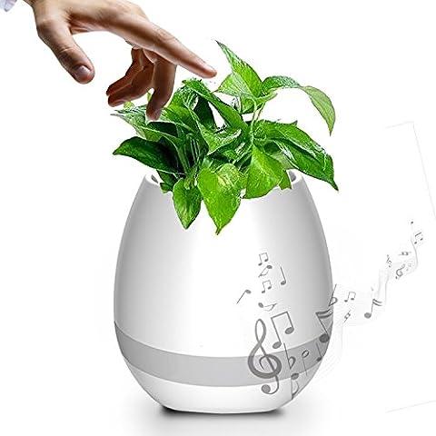 Splink Bluetooth Lautsprecher kreative Blumentöpfe mit buntem LED Nachtlicht, Spielen Klavier auf einem echten Pflanze Festival Kinder