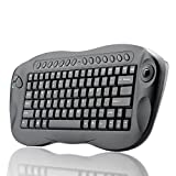 BW Tastiera wireless con trackball, qwerty, tasti di scelta rapida per internet e media, idonea per pc e Mac [layout italiano non garantito]