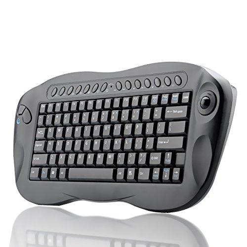 BW Computer Remote Control - Mini Wireless Keyboard with Trackball - Black, [Importado de UK]