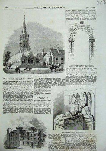 Tomba 1857 dell'Altare di Thomas Fulham della Chiesa Cattolica Preston
