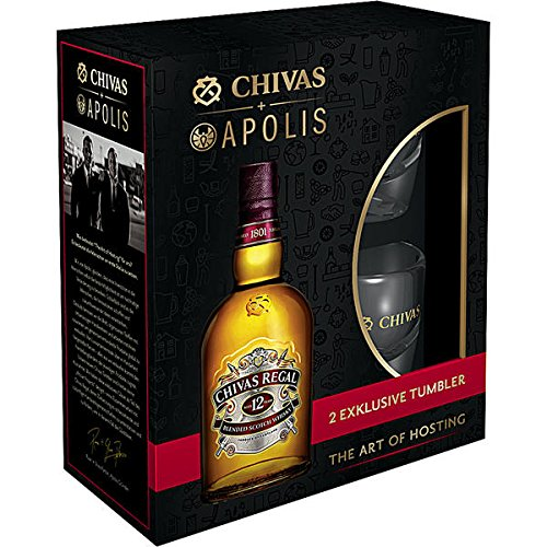 Chivas Regal Scotch 12 Years Old Special Edition Whisky mit Geschenkverpackung mit...