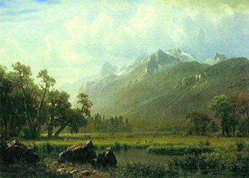 Das Museum Outlet-Der Sierra near Lake Tahoe, California by Bierstadt-Leinwanddruck Online kaufen (152,4x 203,2cm) - Tahoe Schlafzimmer