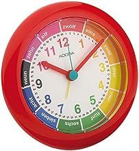Comprar Adora Despertador Aprendizaje de cuarzo en rojo con lernziff ERN hojas y sin tic tac) 29013