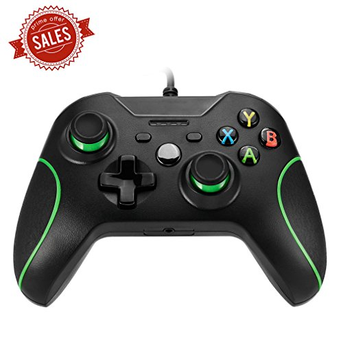 Xbox One Controller,ICOCO USB Gaming Controller Wired Joysticks Gamepad Ergonomisches Design Schock Vibration für Xbox One PC Microsoft Windows