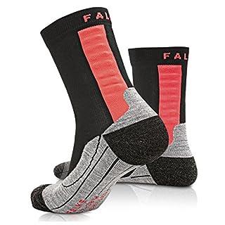 Falke Achilles Damen, Sportsocken & Achillessehnen-Bandage in einem, lindert Schmerzen an der Achillessehne beim Laufen, black, Gr. 39-40