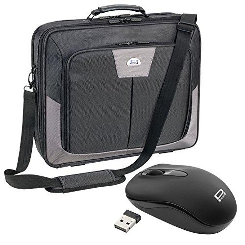 Pedea Premium Notebooktasche bis 43,9 cm (17,3 Zoll) mit schnurloser Maus, grau