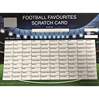 A4 100 TEAM FOOTBALL SCRATCH CARD FOR FUNDRAISING, CHARITY EVENTS ETC.