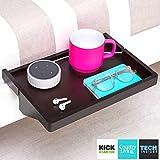 BedShelfie Das Original Bambus Nachttisch-Regal - 3 Farben - GESEHEN AUF Business-Insider und Kickstarter (in Schwarz/Espresso)