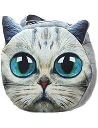 Tickles Cat Face Shoulder School Bag For Kids 25 Cm
