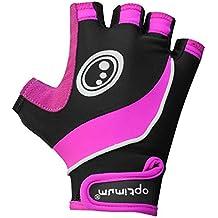 Optimum - Guantes para mujer, talla S, color negro / rosa