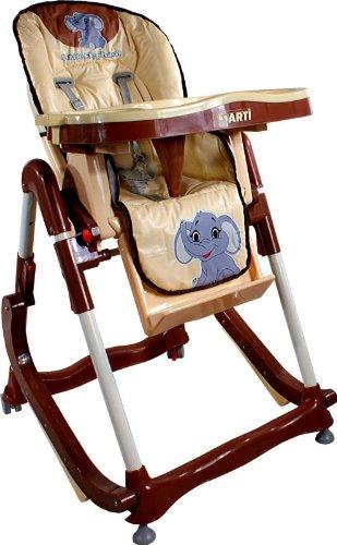 Chaise haute de bébé pour enfants ARTI Modern RT-004 Beige Little Elephant Chaise haute pour bébés avec transat, balancelle fonction
