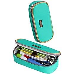 Estuche Escolar Homecube,Portalápices Plegable/ Artículo de papelería Ideal para Estudiantes (Color Verde)