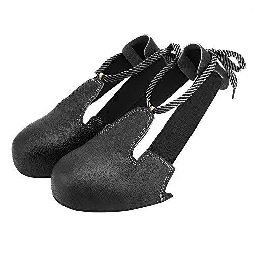 CHOULI Universal Anti-Smashing Slip-Resistant Unisex Steel Toe Safety Shoes Cover Black One Size - Steel Toe Overshoe