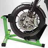 BITUXX® Motorrad Montageständer Motorradwippe vorn Motorradständer Wippe Transportständer Vorderrad Grün