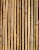 Bamboo Slat Natural Garden Fence Screening Roll Privacy Border Wind/Sun Protection 4.0 x 1.8m (13ft 1in x 5ft 11in) By Papillon