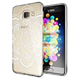 Samsung Galaxy A3 2017 Hülle Handyhülle von NALIA, Slim Silikon Motiv Case Cover Crystal Schutzhülle Dünn Durchsichtig Etui Handy-Tasche Backcover Transparent Phone Bumper, Designs:Pattern Flowers