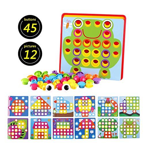 Felly Mosaico Puzzles Infantiles Rompecabezas Kit de Mosaico Creativo Juego DIY Tablero...
