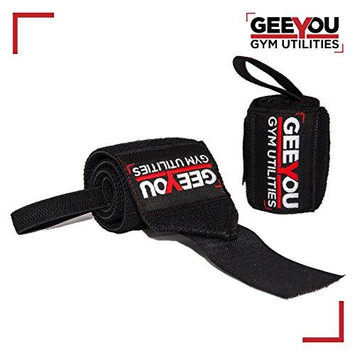 """GEEYOU Handgelenk Bandagen/Wrist Wraps 18"""" / 45 cm Handgelenkbandagen für Fitness, Bodybuilding Kraftsport und Crossfit"""