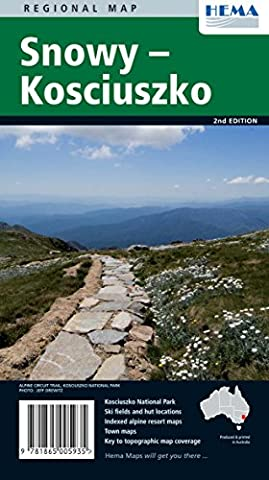 Snowy Kosciuszko national park (Australia), travel map, 2nd edition, HEMA maps